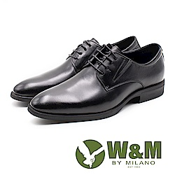 W&M 素面綁帶紳士德比鞋 男鞋 - 黑