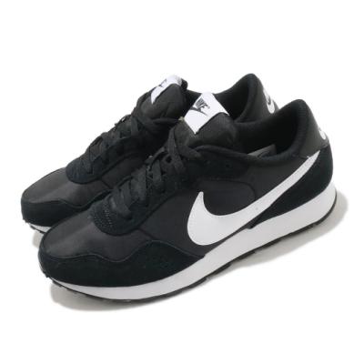 Nike 休閒鞋 MD Valiant GS 運動 女鞋 基本款 簡約 麂皮 球鞋 穿搭 黑 白 CN8558002