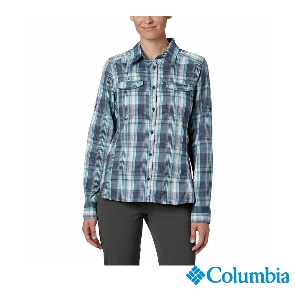 Columbia 哥倫比亞 女款- UPF40快排長袖襯衫-深藍 UAK14980NY