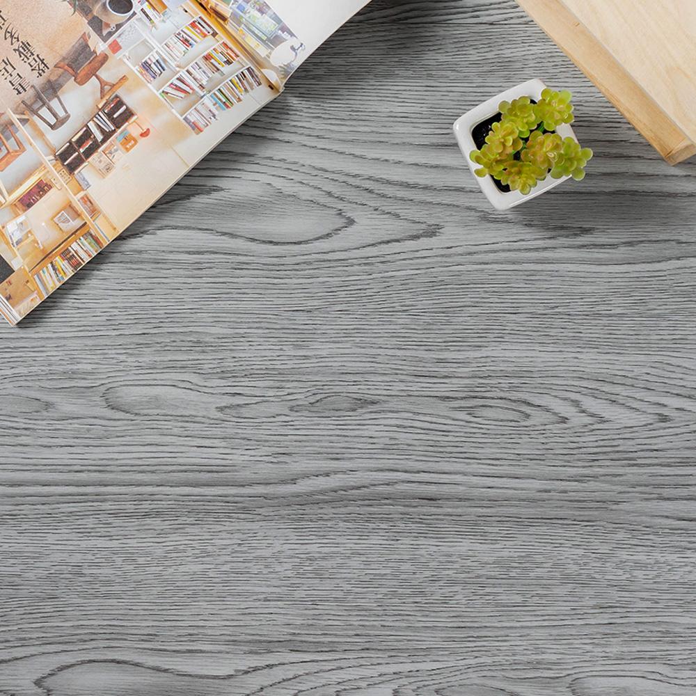 樂嫚妮 (160片)DIY塑膠PVC仿木紋DIY地板貼 6.9坪 煙燻灰橡木-贈壁貼