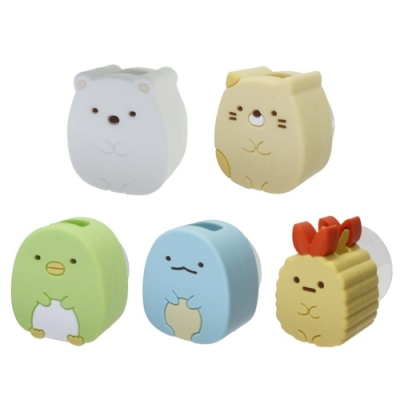 日本限定SHOBIDO粧美堂 角落生物造型牙刷架SK1946(吸盤式)白熊/貓咪/河童/蜥蜴/蝦尾巴