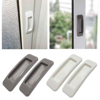 (2入)玻璃門窗/櫥櫃 簡易黏貼長方型門把手/手把/拉手