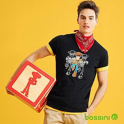 bossini男裝-玩具總動員印花T恤-胡迪黑