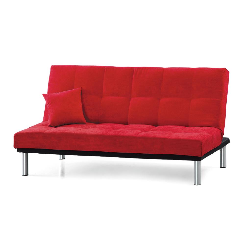 AS-麗莎絨布紅色沙發床-190x50x85cm