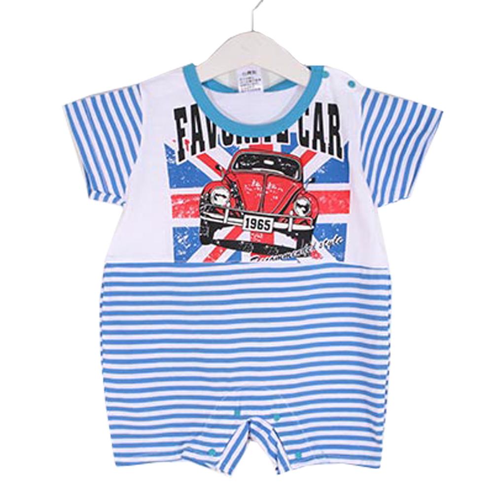 魔法Baby條紋汽車印花短袖連身衣 k50402 魔法Baby