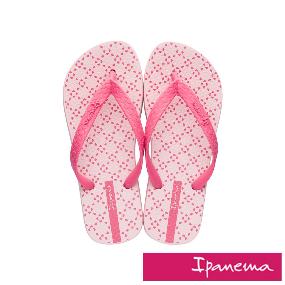 IPANEMA 經典印花人字拖鞋-粉紅色