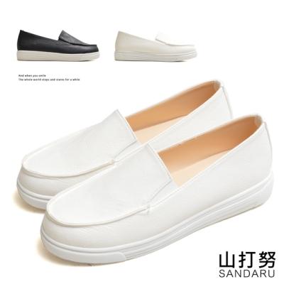 山打努SANDARU-懶人鞋 簡約全素面軟底休閒鞋