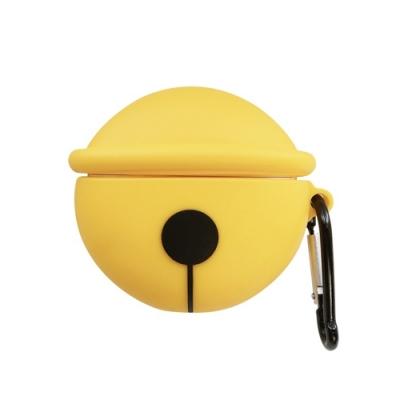 AirPods1AirPods2代保護殼 藍牙 耳機 鈴鐺 造型 保護殼 AirPods1 AirPods2 通用 保護套-黃色*1