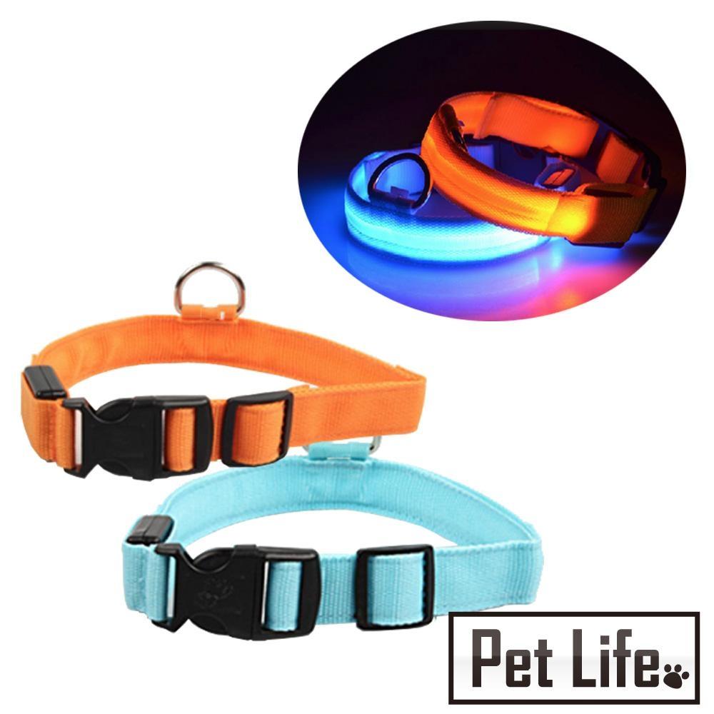 Pet Life LED寵物貓狗發光項圈/夜間散步夜光圈
