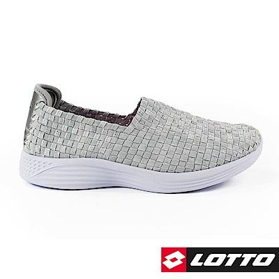 LOTTO 義大利 女 WOVEN 編織健步鞋 (銀灰)