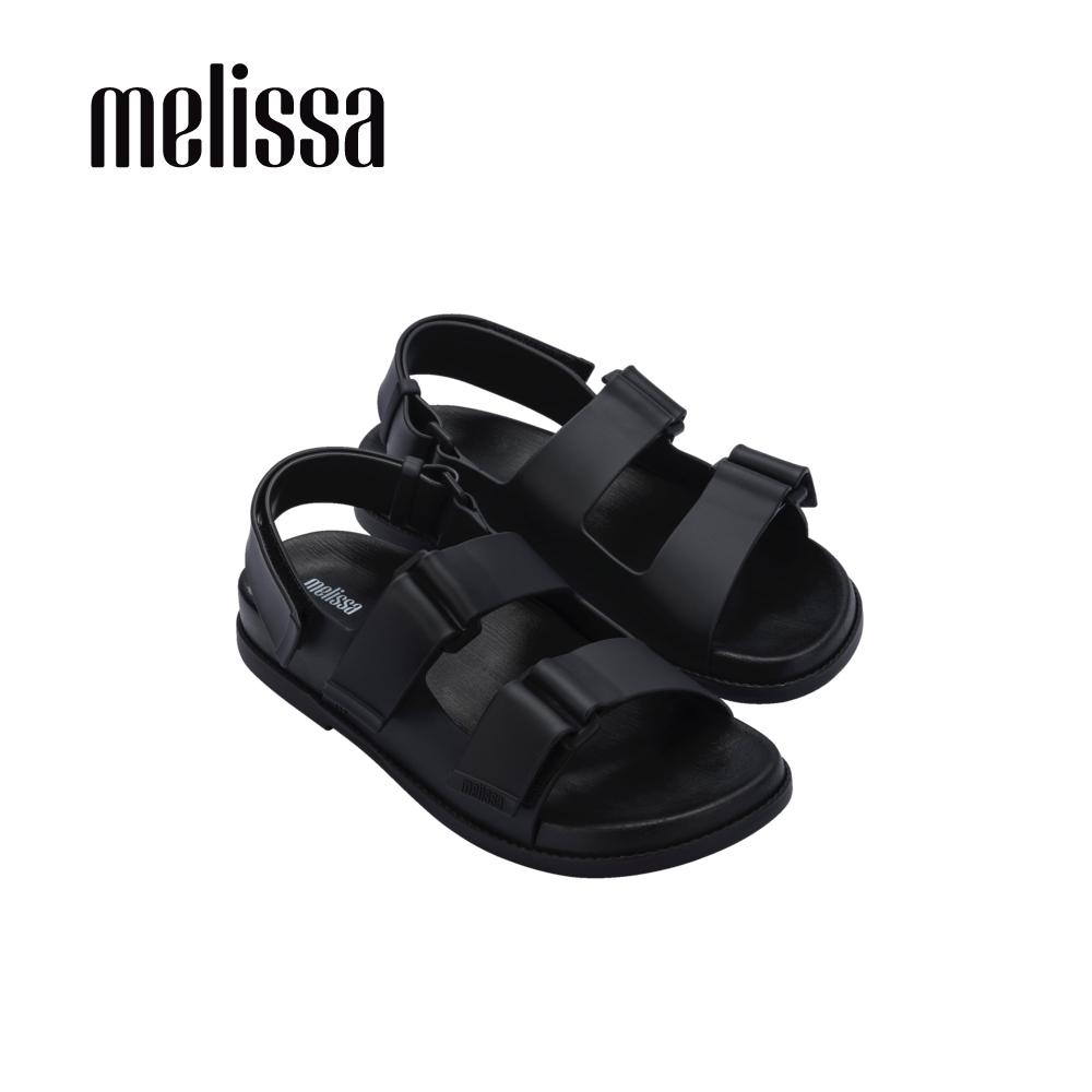 Melissa PAPETE純色寬帶涼鞋-黑