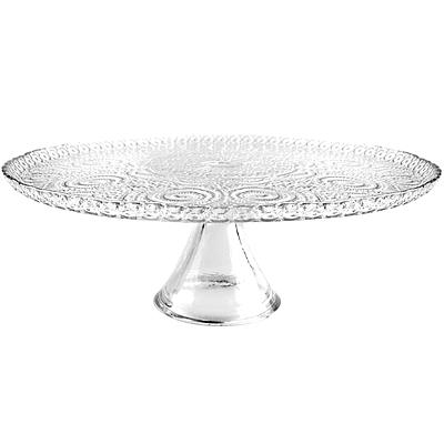 《EXCELSA》浪漫風情玻璃蛋糕架(28cm)