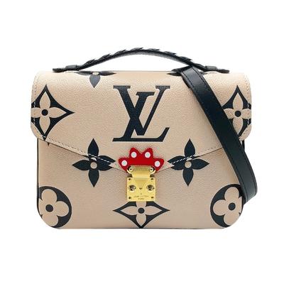 Louis Vuitton Crafty Pochette MÉTIS 全皮手提斜背郵差包(M45384-米白)