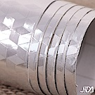 佶之屋  DIY廚房專用加厚防油鋁箔自黏壁貼 60x300cm-B款-立體幾何