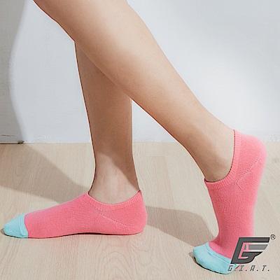 GIAT 台灣製荳荳萊卡船型襪(男女適用-桔紅)