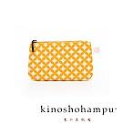 kinoshohampu貴族和柄帆布鑰匙包 七寶黃