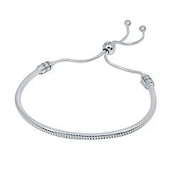 Pandora 潘朵拉 Moments系列簡約可調整蛇鍊 純銀手鍊手環