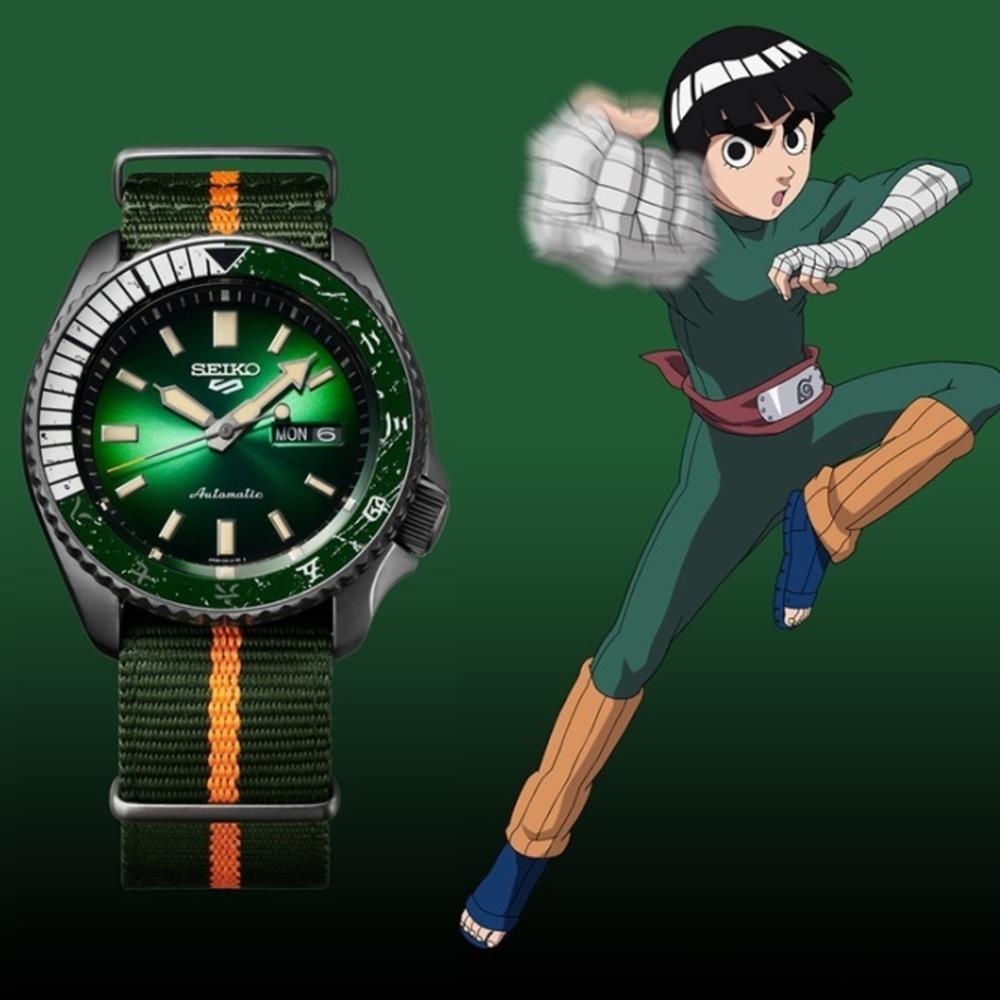 SEIKO 5 火影忍者聯名腕錶-小李(SRPF73K1)