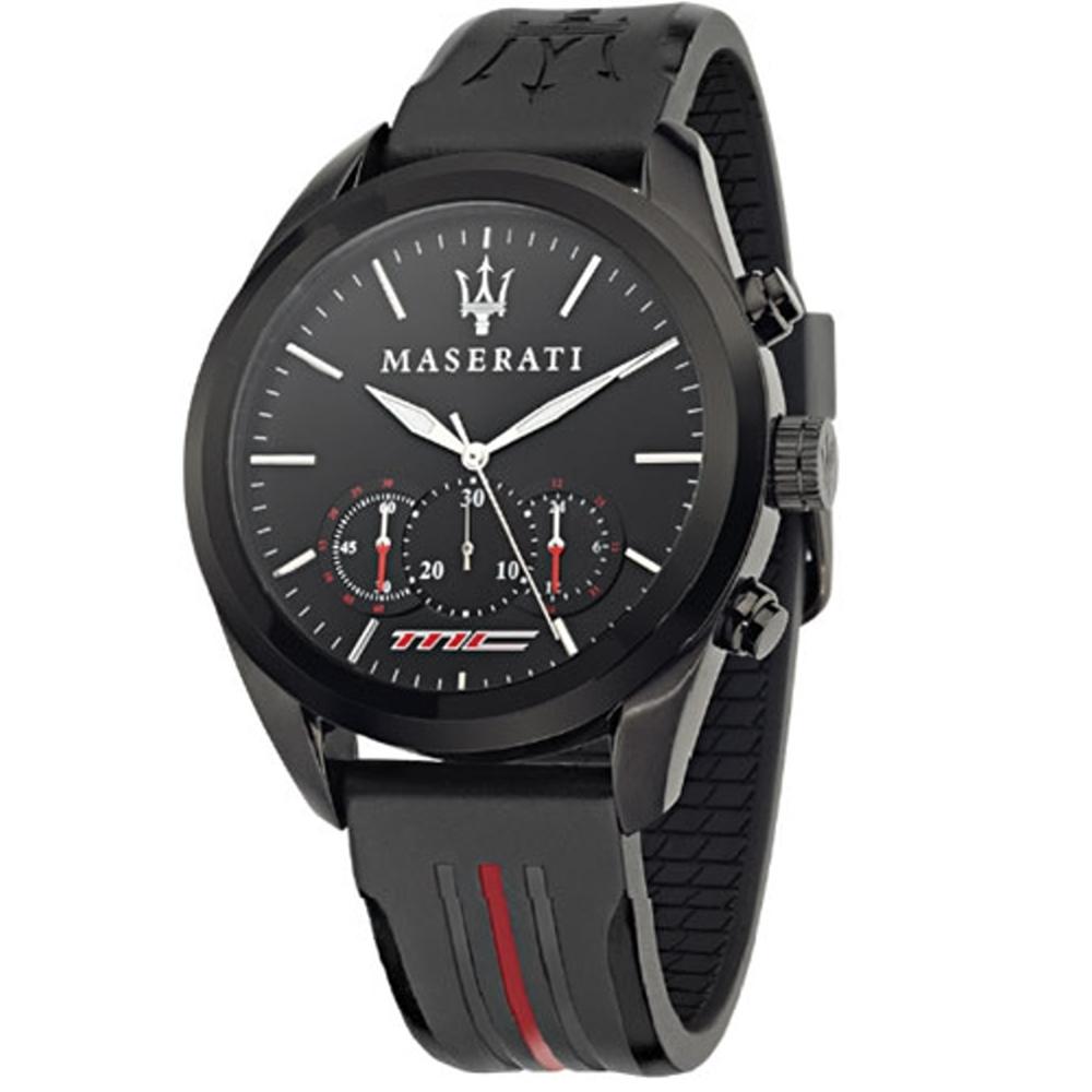 MASERATI/瑪莎拉蒂 TRAGUARD/R8871612004/運動風格計時腕錶45mm