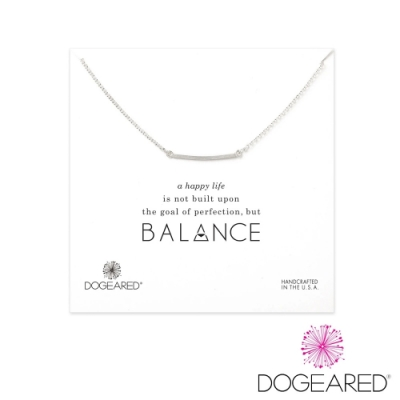 美國DOGEARED 方形銀條純銀祈願項鍊 Balance Medium Square Bar Necklace