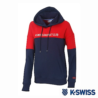 K-SWISS Hooded Sweat Shirts時尚連帽上衣-女-紅