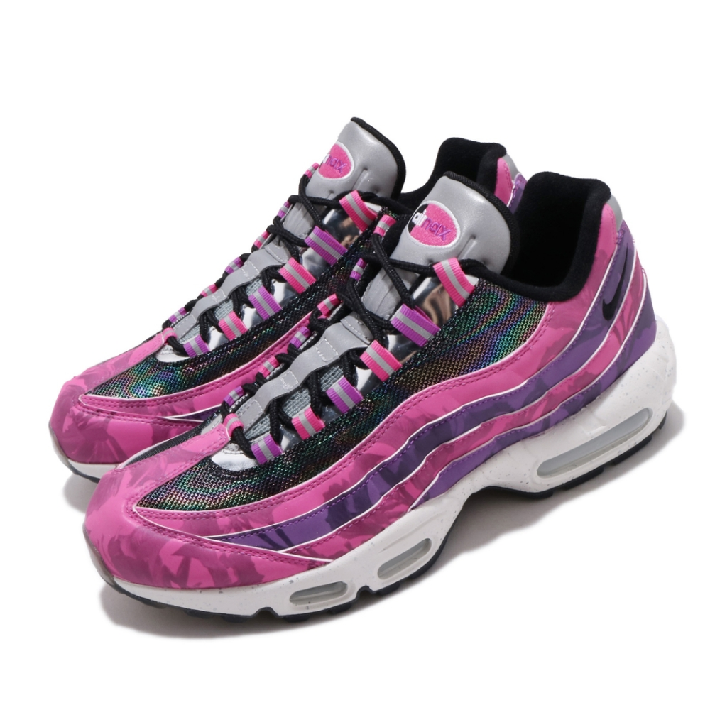 Nike 休閒鞋 Air Max 95 Premium 男鞋 海外限定 經典款 氣墊 避震 反光 粉 彩 CV0032605