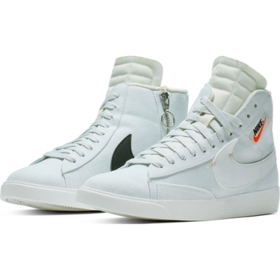 NIKE 休閒鞋  運動鞋 高筒 拉鍊 女鞋 白淺綠 BQ4022400 W BLAZER MID REBEL