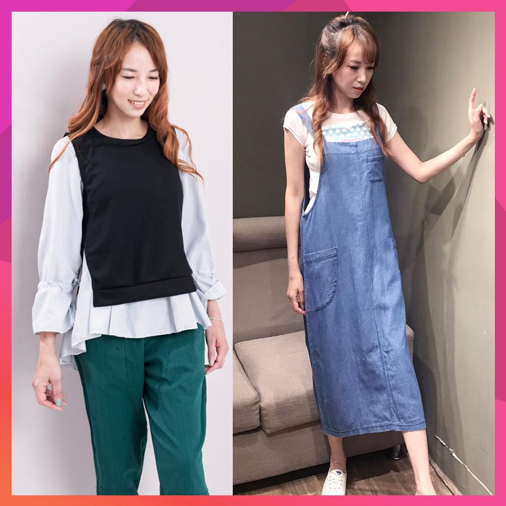 【時時樂】白鵝buyer 韓國製 單寧吊帶洋裝/褲/兩件式上衣(7款可選)