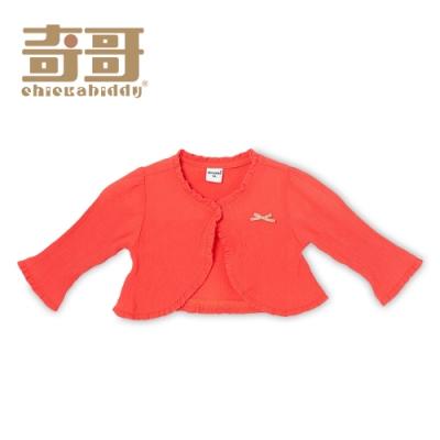 奇哥 水果甜心蝴蝶結外套-珊瑚橘 (1-5歲)