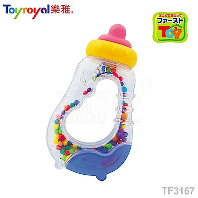 【任選】日本《樂雅 Toyroyal》奶瓶搖鈴 【可高溫消毒】