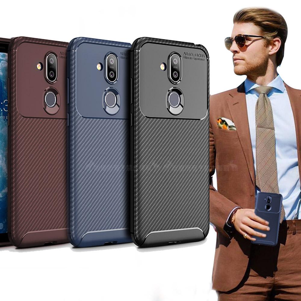 爵士焦點 Nokia 8.1 碳纖維防指紋軟式手機殼