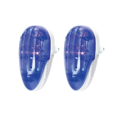 (2入組)KINYO 1.5W電擊式捕蚊燈/小夜燈(AB-200)蚊蟲剋星