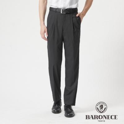 BARONECE 百諾禮士休閒商務  男裝 彈性打褶西裝褲--灰色(1188866-97)