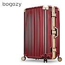 Bogazy 迷幻森林III 29吋鋁框新型力學V槽鏡面行李箱(鋼鐵紅)
