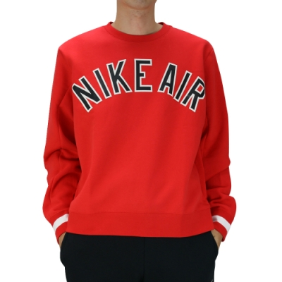 Nike AS M NSW NIKE AIR CREW FLC 男長袖上衣 紅-AR1823657