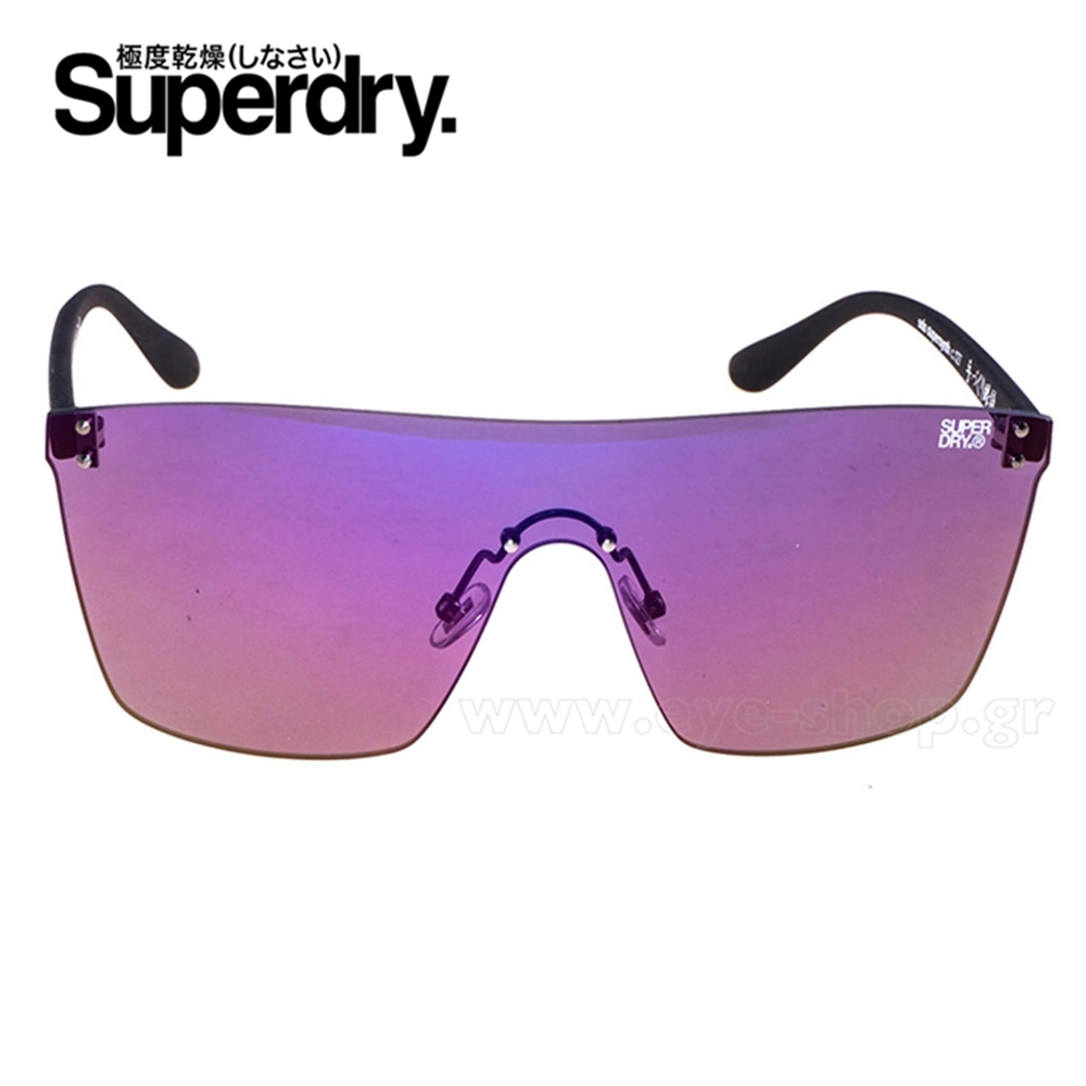 Superdry極度乾燥 墨鏡/太陽眼鏡 SUPERSYNTH系列 炫彩亮面電鍍款-紫/黑 product image 1
