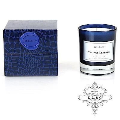 美國 D.L. & CO. 精緻煙草皮革系列 復古皮革 香氛禮盒 210g