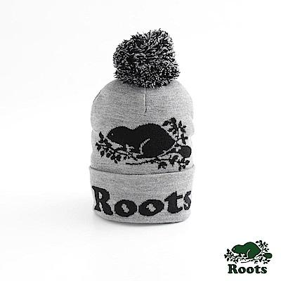 男配件- 經典海狸毛球針織帽- 灰