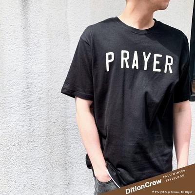 DITION 祈禱PRAY世界和平短袖上衣落肩 oversize 聖經 無私的愛 PEACE