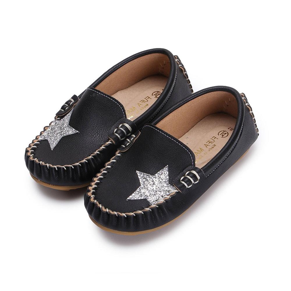 BuyGlasses 閃耀星鑽兒童豆豆鞋-黑