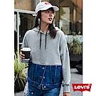 Levis 帽T 女裝 牛仔拼貼 水洗微破壞
