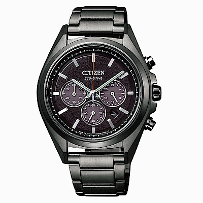 CITIZEN 星辰GENTS 深邃鈦金屬光動能腕錶CA4394-54E