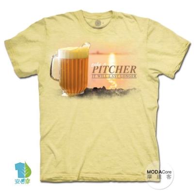 摩達客-美國進口The Mountain 海灘與啤酒 純棉環保中性短袖T恤