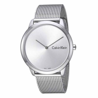 Calvin Klein 優雅米蘭帶腕錶 銀白/銀灰 -40 / 35 mm