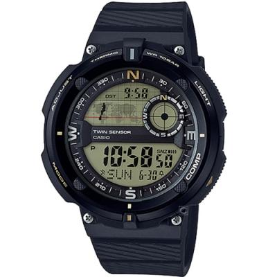CASIO 戶外運動數位雙顯錶(SGW-600H-9)