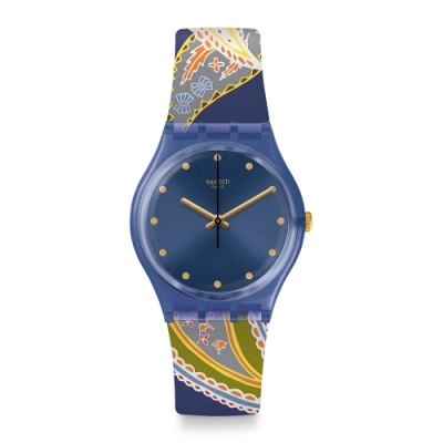Swatch  I love your folk系列手錶 SILKY WAY 薰衣草絲路