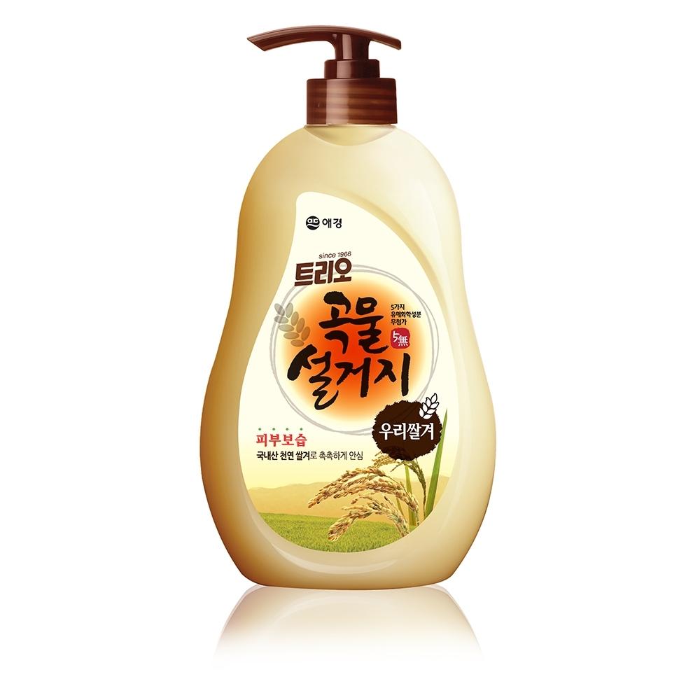 韓國AK 蔬果碗盤洗潔液(米糠) 750mlX4入