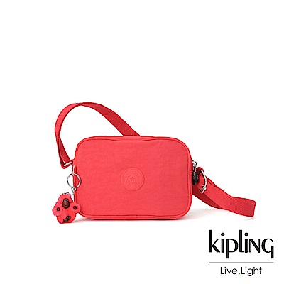 Kipling 亮橘色素面側背方包-DEE