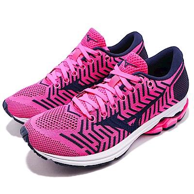 Mizuno 慢跑鞋 WaveKnit R2 低筒 運動 女鞋