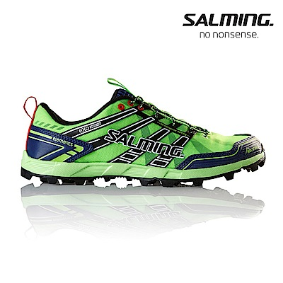 Salming ELEMENTS 寬楦 男鐵人水陸兩棲野跑鞋 綠